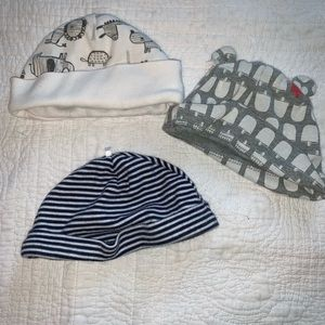 Lot of baby hats